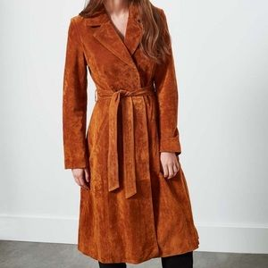 UO Ecote 70s Genuine Suede Trench